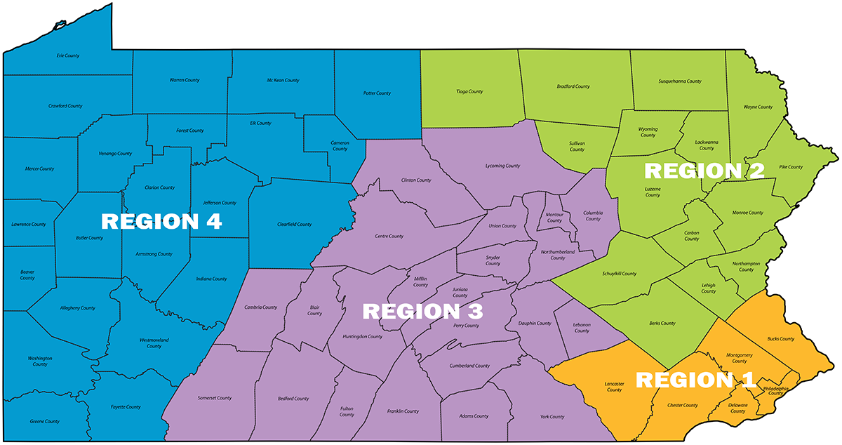 PA Counties Map